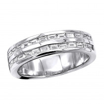 Platinum Baguette Diamond Men's Wedding Ring 1.10ct
