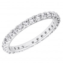 Thin Platinum Diamond Eternity Band 0.84ct