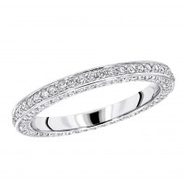 Ultra Thin Platinum Diamond Eternity Ring 0.69ct