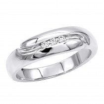 Platinum Men's Diamond Wedding Ring 0.09ct