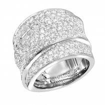 Luxurman Women Rings Platinum Round Diamond Right Hand Ring 3 Carat G/VS