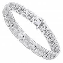 Silver Jewelry: Affordable Mens Diamond Bracelet 3.58 ct