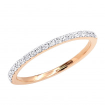 Ultra Thin Slim Round Diamond Wedding Band 0.24ct 14K Gold