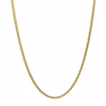 """Solid Gold Franco Chain Necklace for Men 14K Chains 3.5mm 20-32"""""""