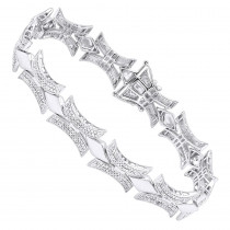 Sterling Silver Diamond Bracelet 1.96ct