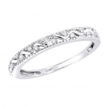Thin Diamond Wedding Rings 0.06ct Ladies 10K Gold Ring