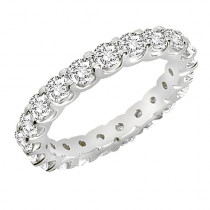 14K Gold 1.4ct Round Cut Shared Prong Diamond Eternity Wedding Ring