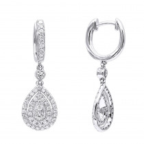 14k Gold Diamond Dangle Drop Earrings For Women By Luxurman 1.2ct