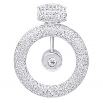 14k Gold Large Round Shape Diamond Circle Pendant For Women 5.25CT Luxurman