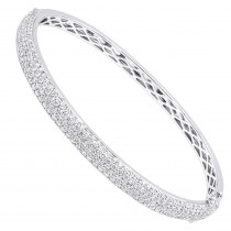14k Gold Pave Diamond Bangle Bracelet for Women 4.75ct by LUXURMAN