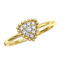 Affordable Fashion Promise Rings Triangle Diamond Cluster Ring 14k Gold
