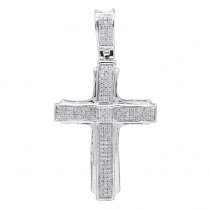 Affordable Real 14k Gold Small Diamond Cross Pendant for Men & Women