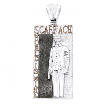 Custom Real 14K Gold Tony Montana Scarface Character Diamond Pendant for Men