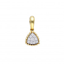Fashion Triangle Cluster Diamond Pendant for Women in 14k Gold by Luxurman