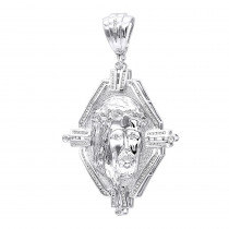 Hip Hop Jewelry 14K Gold Jesus Head Diamond Pendant for Men Medallion 2.25c