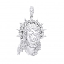 Hip Hop Jewelry Pieces: Unique Large Diamond 14K Gold Jesus Head Pendant