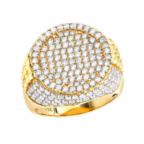 Imperial Design Diamond Ring For Men In 14K Gold by Luxurman 3.75ct