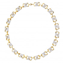Luxurman Unique 14k Gold Pave Diamond Necklace for Women 12.9ct