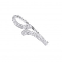 Womens Diamond Snakes Bangle Bracelet 18k Gold by Joe Rodeo 6.44Ct