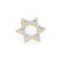 Jewish Jewelry: 14K Gold Diamond Star of David Pendant 0.15ct