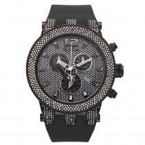 Joe Rodeo Broadway Black Mens Diamond Watch 5ct