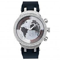 Joe Rodeo Diamond Watch JoJo Master 2.20ct World Map