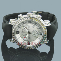Joe Rodeo JoJo Diamond Watch 3.50ct White Yellow Blue