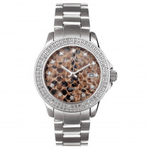 Joe Rodeo Jojo Zibra Ladies Diamond Watch 1.25ct Brown