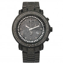 Joe Rodeo Junior Mens Diamond Watch 11.5ct  Black