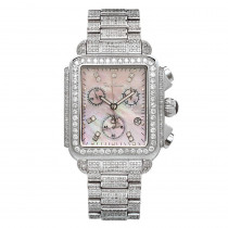 Joe Rodeo Ladies Diamond Watch 10.25ct Pink Madison