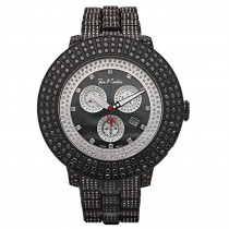 Joe Rodeo Mens Black Diamond Watch 17.00ct Pilot