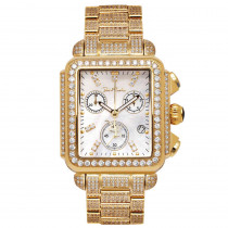 Joe Rodeo Watches Madison Diamond Watch Yellow Gold Plated 10.25ct