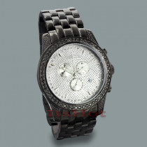 JoJino Watches: Mens Black Diamond Watch 2.25ct