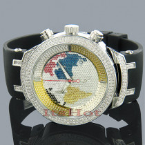JoJo Joe Rodeo Master World Map Diamond Watch 2.20ct