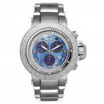 JoJo Joe Rodeo Razor Mens Diamond Watch 4ct Blue