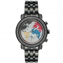 JoJo Joe Rodeo Watch - Classic World Map 1.75ct Black