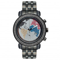 JoJo Joe Rodeo Watch - Tyler World Map, 2.00 ctw. Black