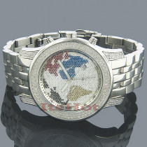 JoJo Watches Joe Rodeo Diamond Watch World Map 1.50ct