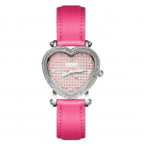 JoJo Womens Diamond Heart Shaped Watch 0.27ct Pink by Joe Rodeo