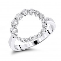 Journey Jewelry 14K Journey Diamond Circle Ring 0.80ct
