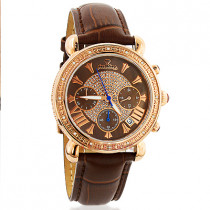 Justbling Victory Womens Diamond Watch Rose Gold Plated JB-6210