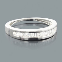 Thin Ladies Baguette Diamond Wedding Band 0.30ct 14K