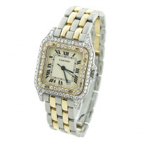 Ladies Cartier Panthere Mini 18K Gold & Steel Two-Tone  Vintage Diamond Watch
