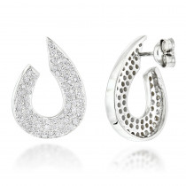 Ladies Designer Diamond Earrings 0.81ct 14K Gold