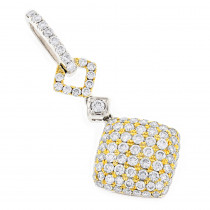 Ladies Designer Diamond Pendant 2.08ct 14K Gold