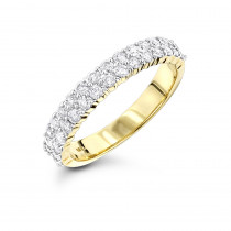 Thin Ladies Designer Diamond Wedding Band 0.70ct 14K Gold