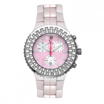 Ladies Diamond Aqua Master Pink Ceramic Watch 1.25ct