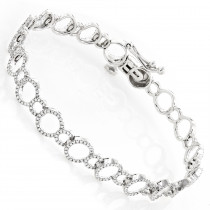 Ladies Diamond Circle Bracelet 0.9ct 14K Gold