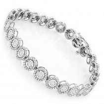 Ladies Diamond Circle Bracelet 14K 4.66ct