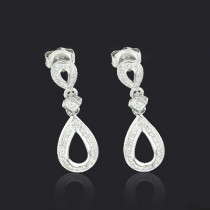 Ladies Diamond Drop Earrings 0.28ct 10K Gold
